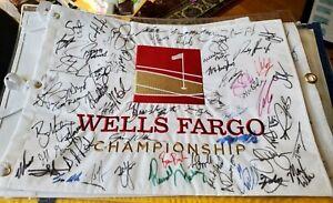 Wells-Fargo-Field-Signed-Flag-Fowler-DeChambeau-Finua-Xander-Schauffele