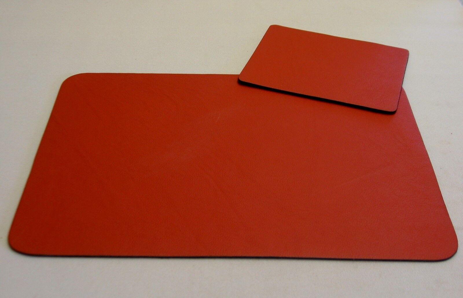 LEDER Schreibunterlage + Mauspad NEU 60cm x 45cm TERRACOTTA Filz- Unterseite 1A  | Moderater Preis  | Großartig  | Hat einen langen Ruf