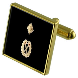 Britain Flag Gold-tone Cufflinks Money Clip Engraved Gift Set