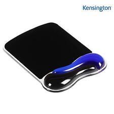 KENSINGTON WRIST REST MOUSE MAT PAD SUPPORT BLUE / BLACK DUO GEL WAVE 62401