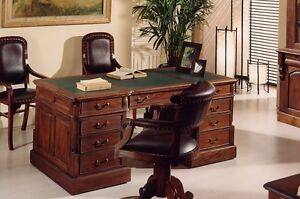 Scrivania Ufficio Legno Massello : Scrivania studio o ufficio stile coloniale in legno mogano massello