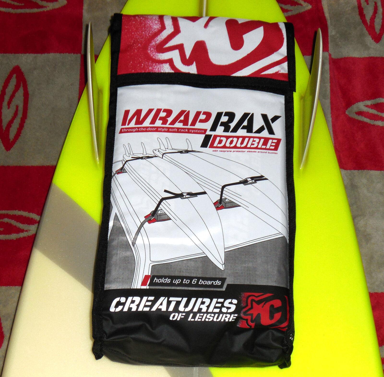 Creatures of Leisure Tabla de Surf coche racks Suave-equipo diseñado Wrap Rax Doble