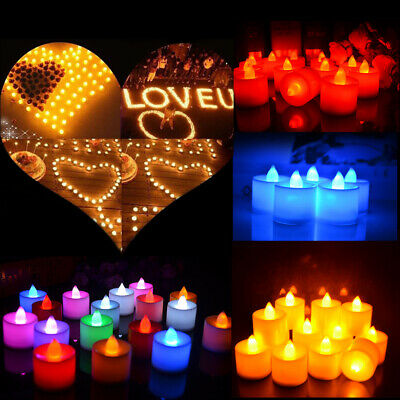 1-36pcs Flameless LED Flickering Tea Lights Wedding Candles Battery Operated lot