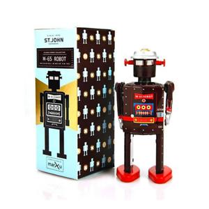 Saint-John-M-65-ROBOT-Giocattolo-Di-Latta-Retro-Da-Collezione