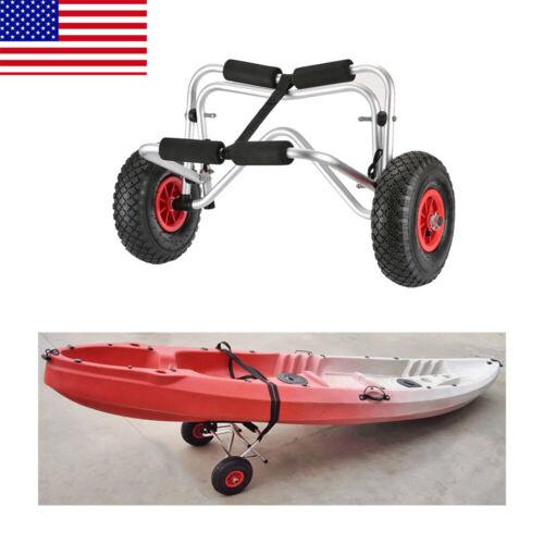 50//75kg Kayak Canoe Boat Carrier Dolly Trailer Tote Trolley Transport Cart Wheel