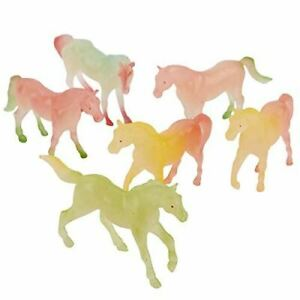 Factory Direct Craft Miniature Glow-in-The-Dark Horses18 Pieces