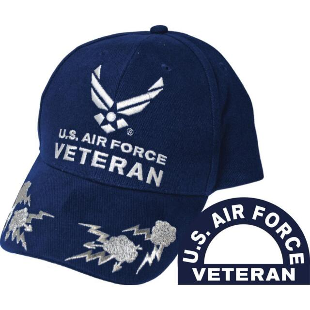 755d4485344 U.s. Air Force Veteran III Scrambled Eggs Hat Blue Cap USAF for sale ...