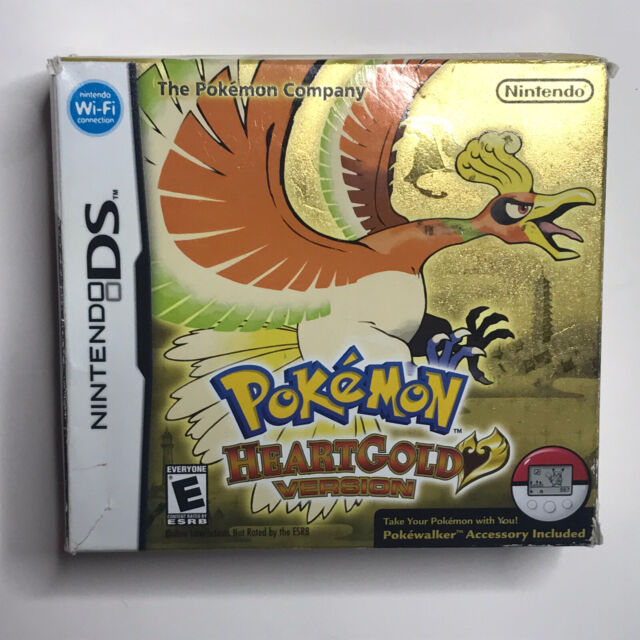 Pokemon HeartGold Version DS CARDBOARD BOX ONLY No Game or Pokewalker Authentic