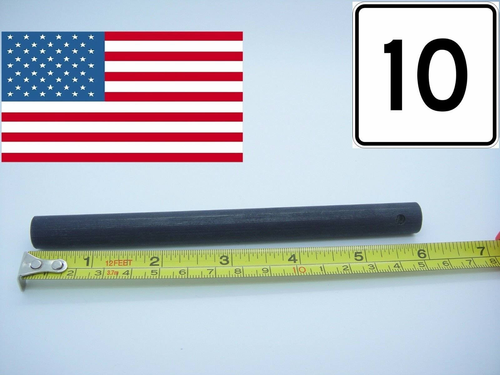 10 Huge 6x1 2 Ferro Rod Fire Starter w drilled hole Ferrocerium Flint Survival