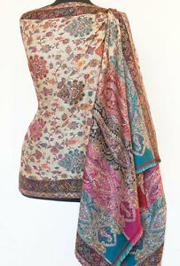 Genuine-Hand-Cut-Kani-Wool-Shawl-Paisley-Jamawar-Finely-Detailed-Jamavar-Floral