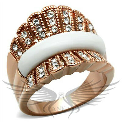 Classy Top Grade Crystal Accented White Stone Fashion Ring 5 6 7 8 9 10 GL223