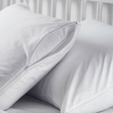 5 STANDARD ZIPPERED PILLOW PROTECTORS, PILLOW COVER 20x26 in. COTTON T-130