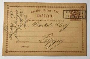 Dt-Reich-Ganzsache-P1-Merane-nach-Leipzig-1878