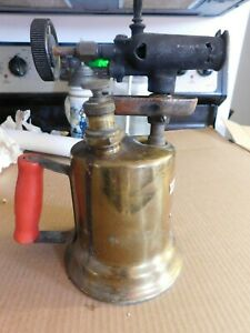 VINTAGE-MONTGOMERY-WARDS-ECLIPSE-QUALITY-BRASS-BLOW-TORCH-GREAT-LABEL