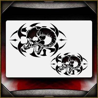 "/""Tribal 2/"" Airbrush Stencil Template Airsick"