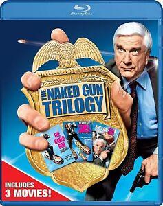 Blu-Ray-THE-NAKED-GUN-1-2-amp-3-trilogy-Leslie-Nielsen-Region-free-New-sealed
