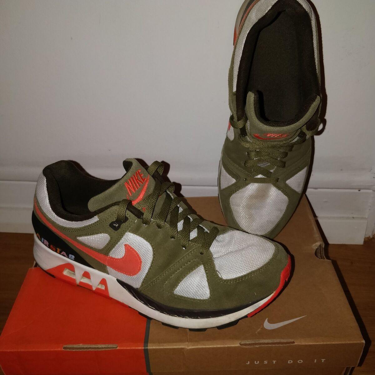 Sneakers, Nike Air Stab, str. 43, Grøn, Hvid, God men