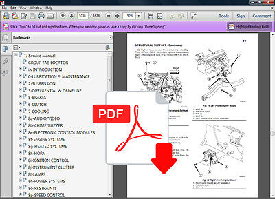 2008 jeep wrangler factory service manual