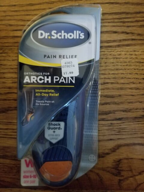 Dr. Scholl's Pain Relief Orthotics for Arch Pain for Women 1 Pair Size 6-10