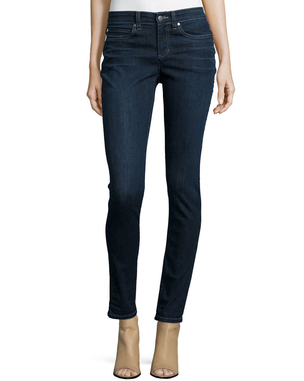 178.00 NWT Eileen Fisher Skinny Whind Organic Cotton Stretch Denim Jeans 0,2,14