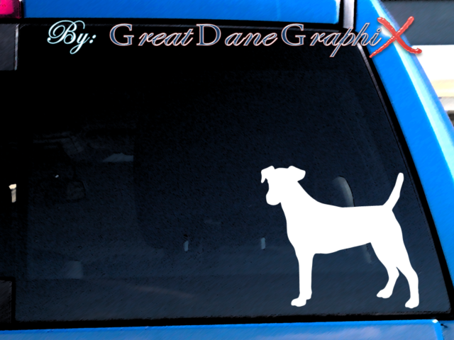 Smooth Fox Terrier #1 -Vinyl Decal Sticker -Color Choice ...