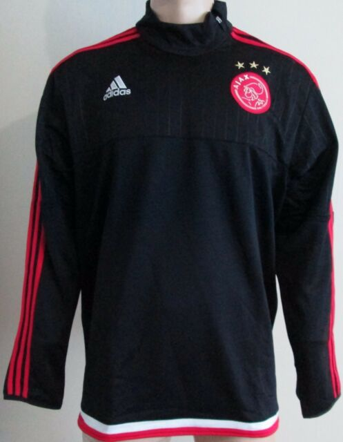 63e8db3ff82 adidas Ajax Mens Training Top Jersey Black Long Sleeve Sports Casual ...
