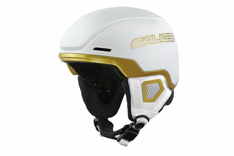 Placa de esquí femenina casco Salice Eagle Color blancoo   dorado XS (52   56)