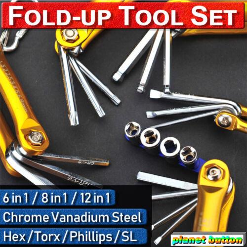 6-12Pc Tamperproof Folding Lock Screwdriver Torx Hex Key Allen Wrench Driver Set