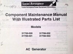 lucas ac generator 31708 series component maintenance parts manual rh ebay com component maintenance manual ata component maintenance manual template