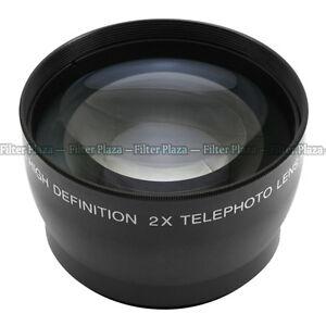 55mm 2.0X Magnification Telephoto Tele Converter Lens for Digital Camera 2X 55