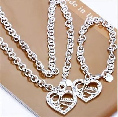 WHOLESALE JEWELRY  925SILVER NECKLACE PENDANT EARRING RING BRACELET BANGLE SETS