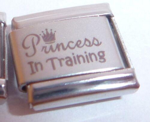 PRINCESS IN TRAINING Italian Charm I Love My Daughter fits Classic Bracelets 9mm