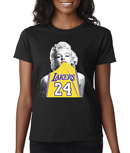 Details about New Way 412 - Women s T-Shirt Marilyn Monroe Lakers 24 Kobe  Bryant Gold Jersey 342a76f213