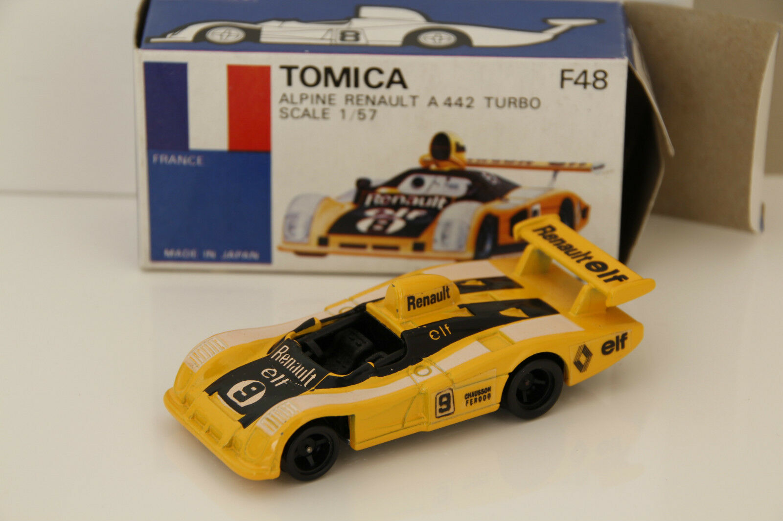 Tomica Renault Alpine A 442 Turbo 1 57 scale diecast model 1 64