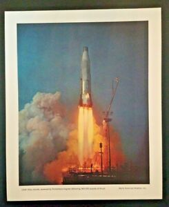 USAF Atlas Missile Rocketdyne Engines North American Aviation Print