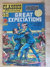 Classic Comics ( Illustrated)  No 43  1st Edition  1947  Great Expectations