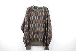 Vintage-90s-Streetwear-Herren-XL-ED-BASSMASTER-COOGI-Stil-mehrfarbige-Pullover