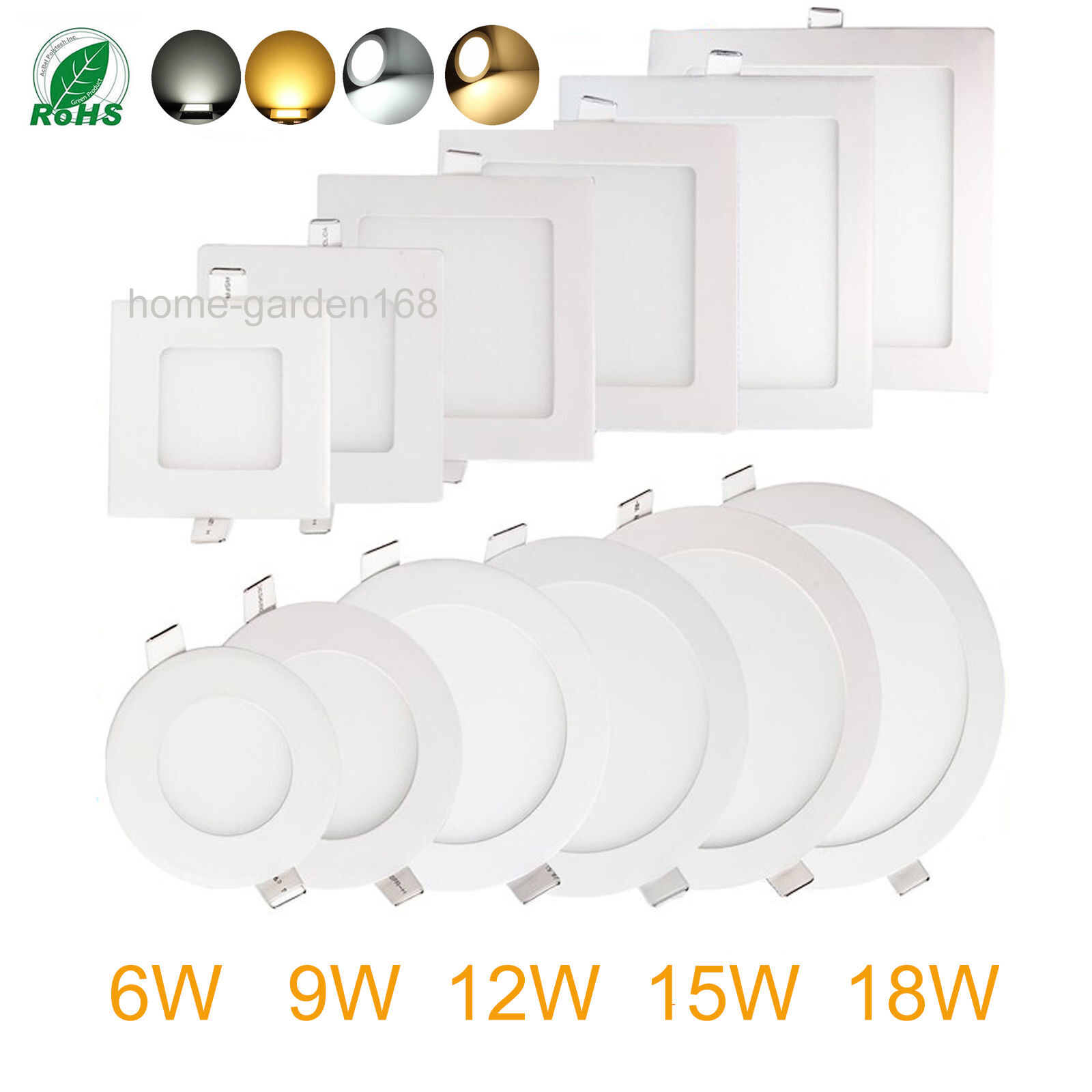 Regulador 6W 9W 12W 15W 18W Led Luz Empotrada de Techo Downlight Panel cree