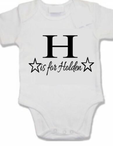 Personalised baby shower vest Any letter is for any name star print your name