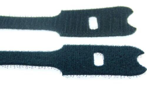 20 Klettbänder ECO 300 x 28 mm schwarz Kabelklett Klettband Klett Kabelbinder
