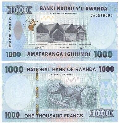 1000 Francs 2019 Unc Lemberg-zp Exquisite Traditional Embroidery Art Other African Paper Money Well-Educated Rwanda