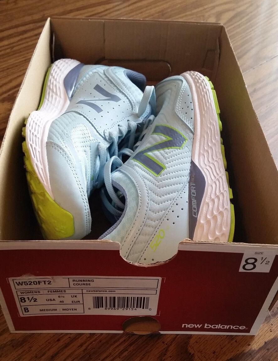 Worn Once - New Balance Women's Comfort Ride Running shoes (slate lt bluee lime)