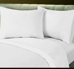 Details About Lot Of 6 New White Hotel Quality King Size Flat Sheets High Thread Count T 180