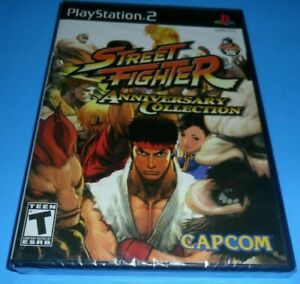Street Fighter Anniversary Collection PS2 US ENGLISH (ONLY FOR NTSC) NEW SEALED