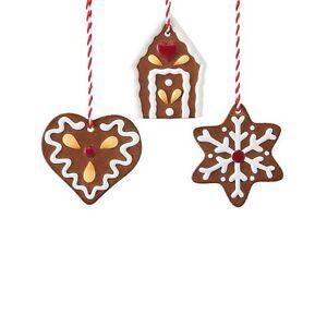 Hutschenreuther-Weihnachten-Candyland-3-Baumanhaenger-039-039-Lebkuchen-039-039-Baumdekoration
