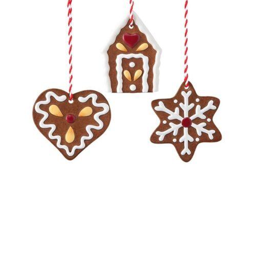 Hutschenreuther Weihnachten Candyland 3 Baumanhänger /'/'Lebkuchen/'/'Baumdekoration