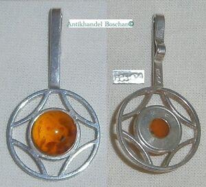 Art Déco-anhänger Firma Fischland 835 Silber Mit Bernstein/amber Mit Den Modernsten GeräTen Und Techniken