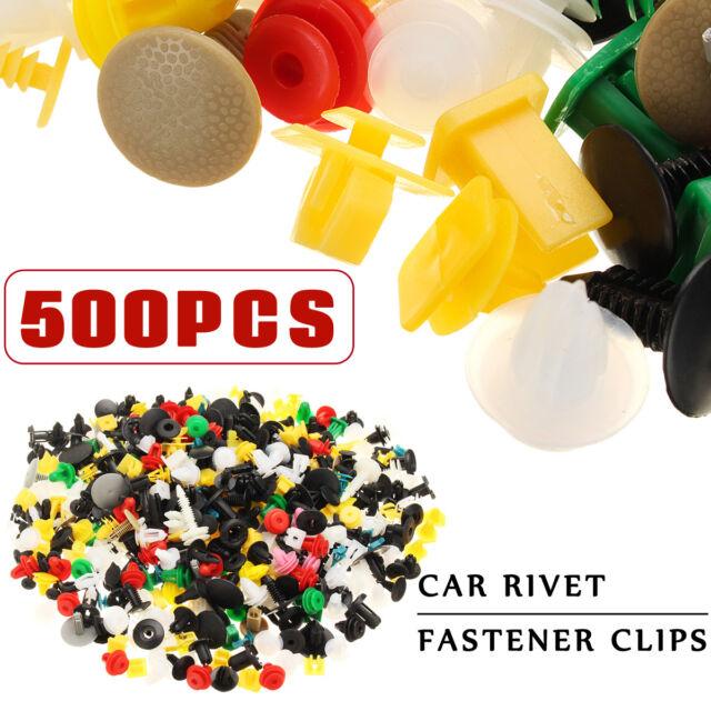 500 x Auto Car Mixed Fastener Clip Bumper Fender Trim Plastic Rivet Door Panel