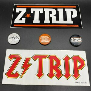 STICKERS-amp-PINS-Z-Trip-Hard-Rock-Hard-Hitting-Hip-Hip-Hardcore-OG-NEW