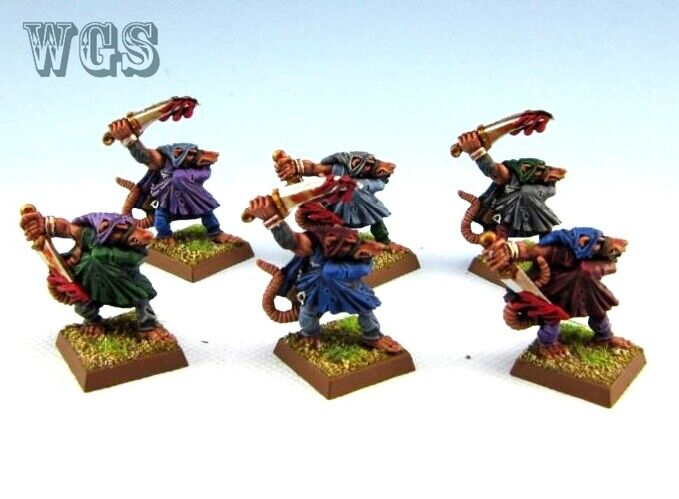 25mm Warhammer Fantasy WGS painted Skaven Gutter runner SK056